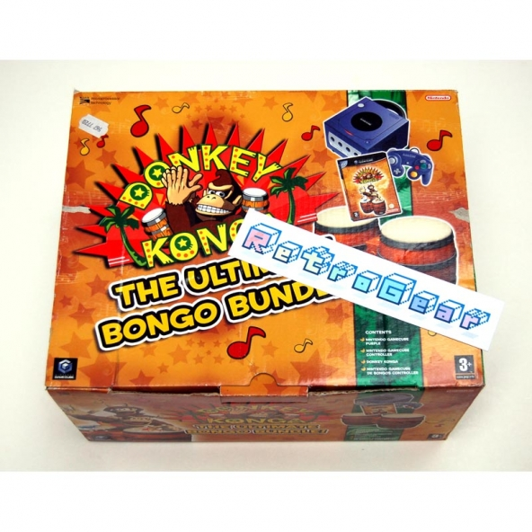 Nintendo Gamecube - Donkey Konga Bongo Bundle - boxed complete