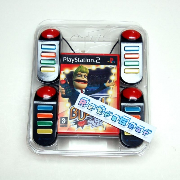 Playstation Buzz controllers plus The Big Quiz game