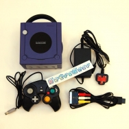 Nintendo GameCube (purple) unboxed