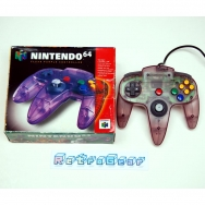 N64 Clear Purple Controller - boxed